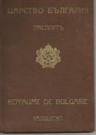 Bulgaria Kingdom 1940 King Boris Service Passport Passeport Reisepass - Historical Documents