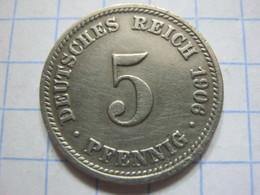 5 Pfennig 1906 (D) - [ 2] 1871-1918 : German Empire