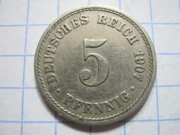 5 Pfennig 1907 (A) - [ 2] 1871-1918 : German Empire
