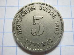 5 Pfennig 1907 (E) - [ 2] 1871-1918 : German Empire