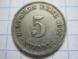 5 Pfennig 1907 (J) - [ 2] 1871-1918 : German Empire