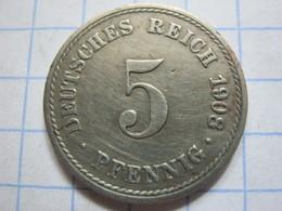 5 Pfennig 1908 (A) - [ 2] 1871-1918 : German Empire