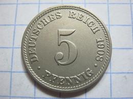 5 Pfennig 1908 (D) - [ 2] 1871-1918 : German Empire
