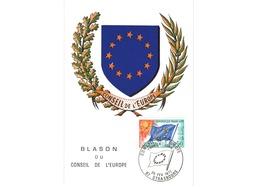 Carte Premier Jour  / Blason Du Conseil De L'Europe  / Strasbourg   / 20-2-1971 - 1970-79