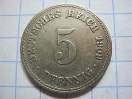 5 Pfennig 1909 (A) - [ 2] 1871-1918 : German Empire
