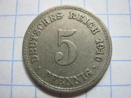 5 Pfennig 1910 (A) - [ 2] 1871-1918 : German Empire