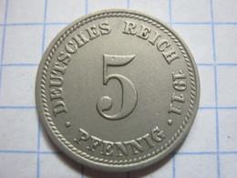 5 Pfennig 1911 (D) - [ 2] 1871-1918 : German Empire