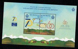 San Marino 2019 70° Anniv.consiglio D'Europa E 60° Corte Europea Dei Diritti Dell'uomo 2v In Fgl Complete Set   ** MNH - San Marino
