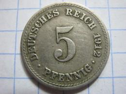 5 Pfennig 1912 (A) - [ 2] 1871-1918 : German Empire