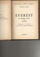 """LIVRE """"EVEREST """" DE MICHELINE MORIN  -ILLUSTRATION GRAVURES ET AQUARELLES - ANNEE 1953 TB - Geografía"""
