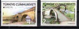 TURKEY, 2018, MNH, EUROPA, BRIDGES,2v - 2018