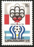 V) 1975 URUGUAY, MONTREAL OLYMPIC EMBLEM AND ARGENTINA, MNH - Uruguay