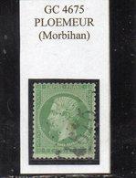 Morbihan - N° 20 Obl GC 4675 Ploemeur - 1862 Napoléon III