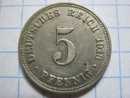 5 Pfennig 1913 (D) - [ 2] 1871-1918 : German Empire