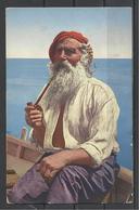 Italy, Capri, Old Fisherman, 1936 - Napoli