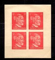"Allemagne Timbre De Propagande ""Futsches Reich"" En Feuillet/bloc De 4 Neufs ** MNH. TB. A Saisir! - Occupation 1938-45"