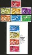 V) 1976 ANTIGUA, OLYMPIC GAMES MONTREAL CANADA, SOUVENIR SHEET OF 4, MNH - Antigua And Barbuda (1981-...)