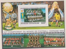 Republique Centrafricaine 1982 FIFA World Cup Spain Football Souvenir Sheet MNH/** (H56) - 1982 – Espagne