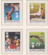 Yugoslavia 1988 Seoul Olympic Games 4 Stamps MNH/** (H56) - Estate 1988: Seul