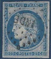 Colonies Générales N°23 Type III Bleu Clair De 1876 (moins Commun) Obl Losange INDE Belle Frappe Très Frais !! - Ceres
