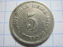 5 Pfennig 1914 (G) - [ 2] 1871-1918 : German Empire