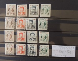 Monaco Série De 1949 Et 1951 - N° 334 A Et B A 379 A Et B - Tous * - MH - Charnière Légère  - Cote : 180 Euros - Monaco