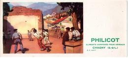 Buvard Philicot Aliments Pour Animaux - Chagny - Illustration : La Pelote Basque. - Unclassified