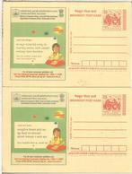 INDIA 2 ENTERO POSTAL EN DIFERENTES IDIOMAS CONSUMER HELP - Enteros Postales