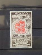 Monaco 1955 - XXVème Rallye De Monte Carlos N° 420 * - MH - Charnière Légère  - Cote : 63 Euros - Monaco