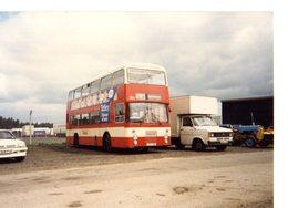 35mm ORIGINAL PHOTO BUS DOUBLE DECKER CITY BUS SPECIAL SERVICE  - F040 - Photographs