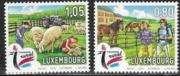 LUXEMBOURG, 2019, MNH, RURAL TOURISM, SHEEP, LAMBS, HORSES, HIKING, TRACTORS,2v - Other