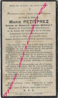 En 1929-Godewaersvelde (59)  Marie PETITPREZ Ep Jéremie BENAULT, Membre Tiers Ordre De Saint François - Décès