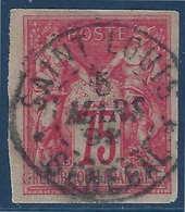 Colonies Générales Sage N°28 75c Rose Oblitéré Dateur Saint Louis Sénégal R & TTB Signé Brun - Sage