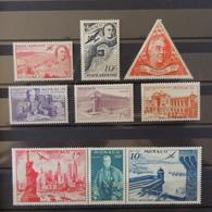 Monaco - Poste Aerienne N° 19 à 27 **  - MNH  - Cote : 16 Euros - Airmail