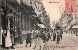 """CPA De PARIS - Série """"TOUT PARIS """" - Rue De Belleville. - Frankreich"""
