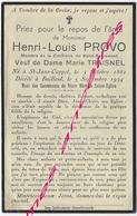 En 1934-Saint Jans Cappel Et Bailleul (59)  Henri PROVO Ep Marie TRAISNEL Membre Confrérie Saint Sacrement - Décès