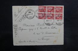 FRANCE - Devant D'enveloppe En Exprès De Hayange Pour Nancy En 1933 - L 35766 - Postmark Collection (Covers)