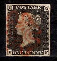 Grande-Bretagne YT N° 1 Black Penny Oblitéré. Premier Choix. A Saisir! - Used Stamps