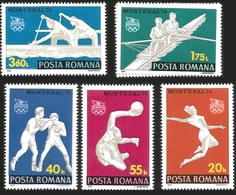 V) 1976 ROMANIA, 21ST OLYMPIC GAME, MONTREAL CANADA, BOXING, HANDBALL, MAN SCULL, GYMNAST, MNH - Philippines