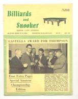 """Revue Anglaise """" Billiards And Snoocker """" N° 554 April 1967  - BILLARD  (jm) - Sports"""
