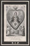 Barbara Cecilia Decherf-oostnieuwkerke-1818- 1883 - Devotion Images