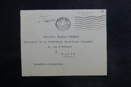 FRANCE - Devant D'enveloppe Du Président De La République Pour Nancy En 1932 - L 35767 - Postmark Collection (Covers)