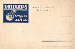 Carte Publicitaire - Philips 1/2 Watt & Arga ( N°15). - Publicité