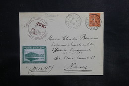 FRANCE - Devant D'enveloppe Touristique De Givet Pour Nancy En 1932 , Vignette De Givet - L 35768 - Marcophilie (Lettres)