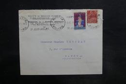 FRANCE - Enveloppe Commerciale De Nancy Pour Nancy En 1931 , Vignette Contre La Tuberculose - L 35769 - Postmark Collection (Covers)