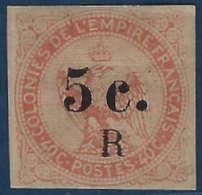 France Colonies Réunion N°3* 5c /40c TTB - Reunion Island (1852-1975)