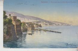 SORRENTO NAPOLI  PANORAMA CON LA VILLA MARION CRAWFORD - Napoli