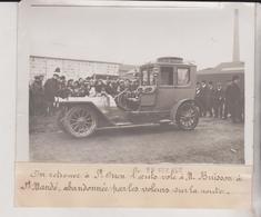 Saint-Ouen L'AUTO VOLE A M BUISSON A ST MANDE 1912 Saint-Denis  +-18*13CM Maurice-Louis BRANGER PARÍS  (1874-1950) - Automobiles