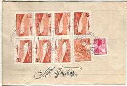 ECUADOR LIBRANZA POSTAL 1956 CATACOCHA SELLOS FOURNIER VITORIA - Ecuador