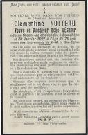 En 1927-Steent-Je Et Boeschèpe (59) Clémentine NOTTEAU Ep René DECAMP - Décès